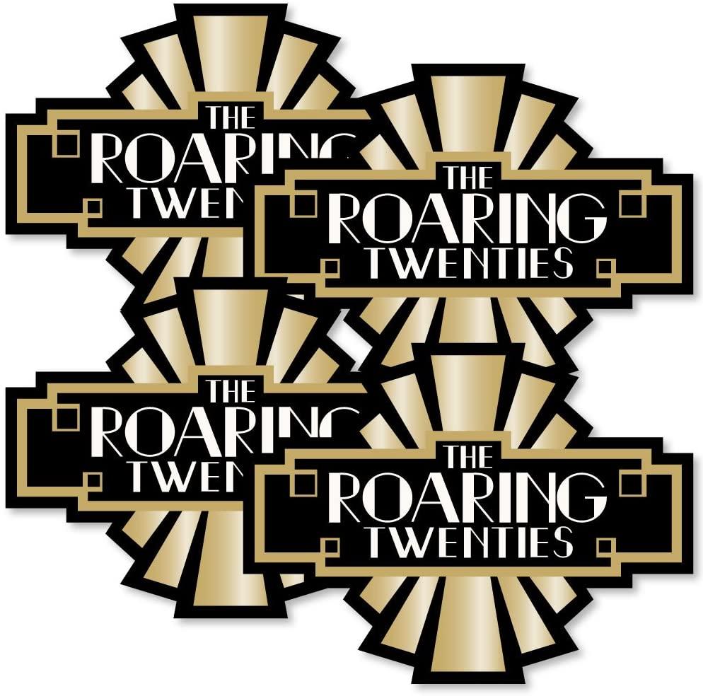 Big Dot of Happiness Roaring 20's - Art Deco DIY 1920s Jazz Party Essentials - Set of 20