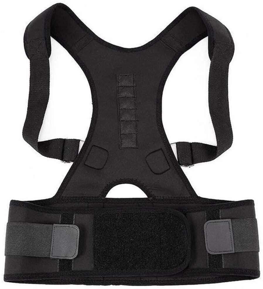 Unisex Orthopedic Back Support Belt Posture Corrector Magnetic Back Braces