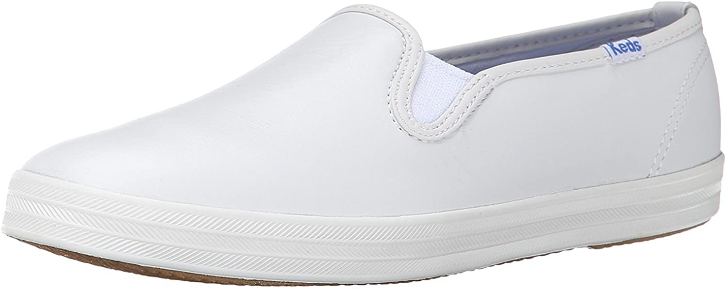 Keds Women's Champion Leather Slip on Sneaker