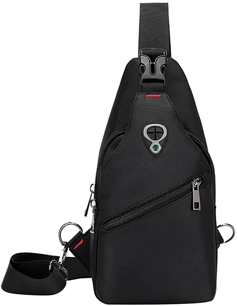 BESTOYARD Chest Backpack Shoulder Crossbody Bag Riding Sports Multipurpose Daypack Sling Chest Daypack (Black)