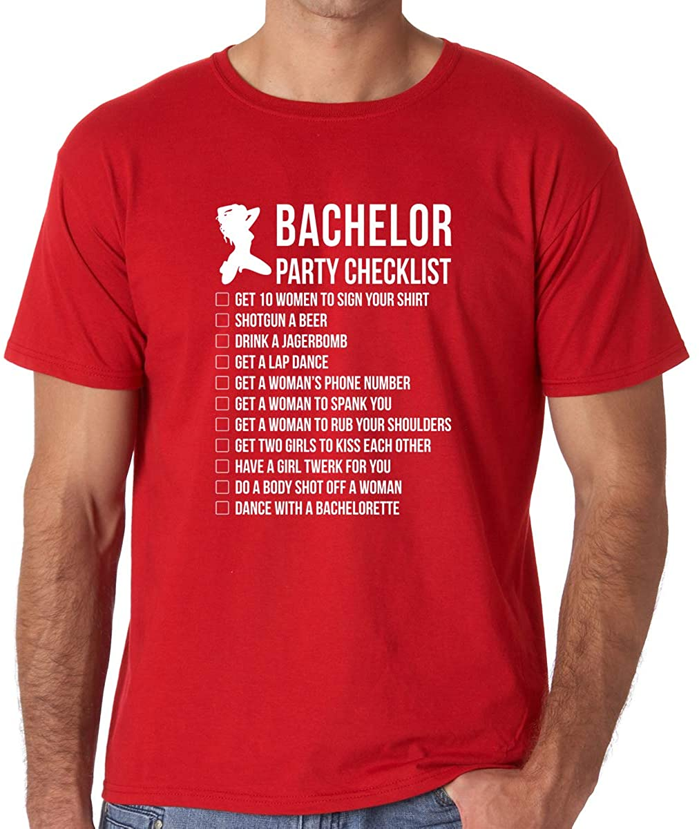 AW Fashions Bachelor Party Checklist - I'm Tying The Knot - Groom to Do List Before Getting Married - Men's Tshirt