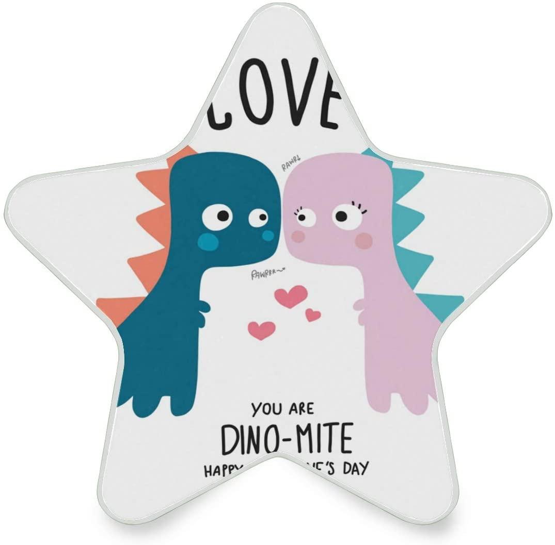 LED Night Light Star Shape Dinosaur Couple Lover Ultra-Slim, and Cool-Touch Dusk to Dawn Sensor Night Lamp Kids Adults and Nursery Decor Night Light