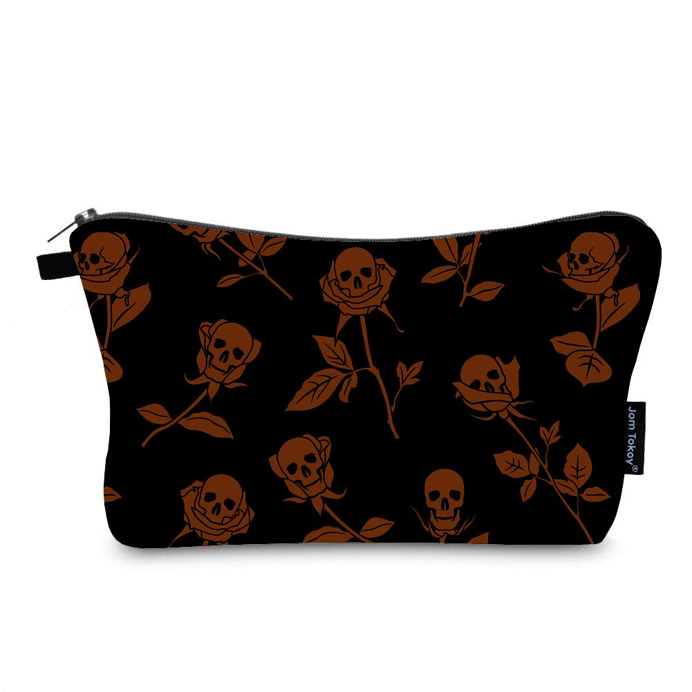 Makeup Cosmetic Bags for Women Portable Travel Organizer Bag for Toiletries Beauty Bag Waterproof Skull Print Pattern (Skull1098)