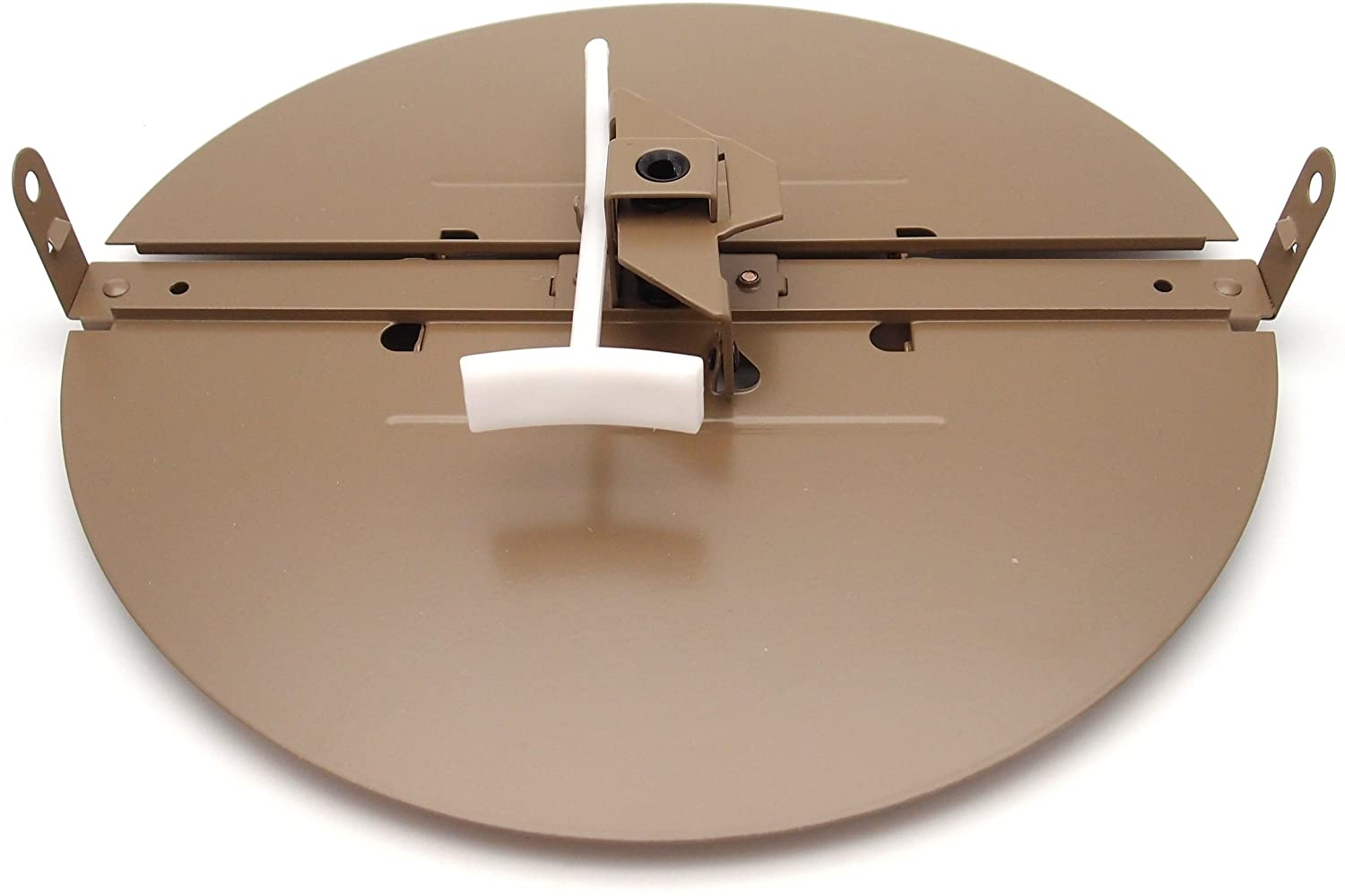 8 Butterfly Damper - Control Your Airflow on Drop Ceiling grilles of 24x24 (8 Round Duct Opening)