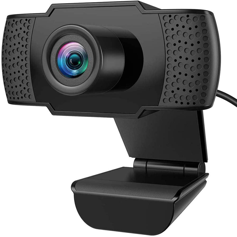 Full HD Webcam 1080P with Microphone for Desktop PC Laptop Mac, Web Camera USB Computer Camera for Remote Conference, Games, Network Teaching Calling Gaming Streaming Video.