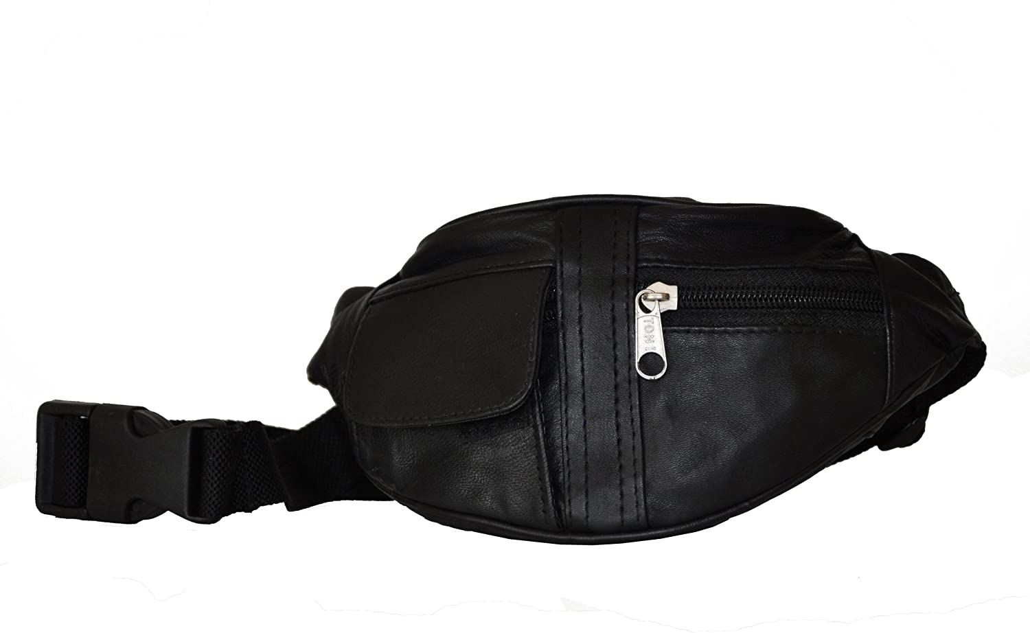 Leatherboss Mini Fanny Pack for Running/jogging - Black