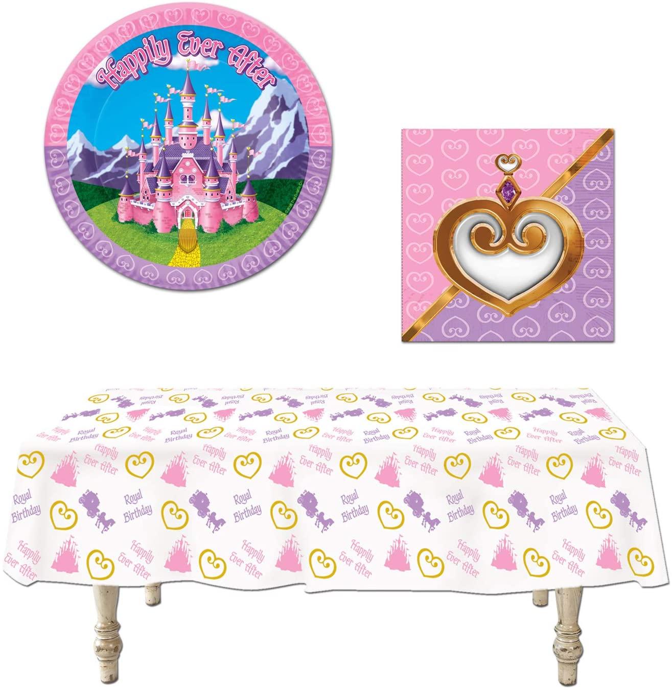 Princess Party Decorations 33 Piece Bundle Tablecover Plates Napkins