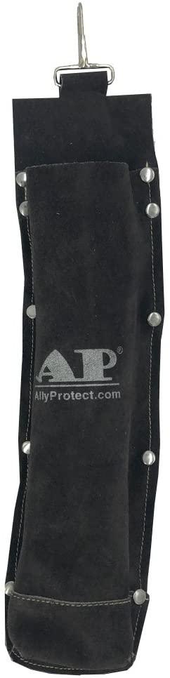Welding Rod Bag, AllyProtect Split Cowhide Leather Electrode Flame Resistance Welding Rod Holder/Electrode Holder/Welding Rod Storage Container(Brown)