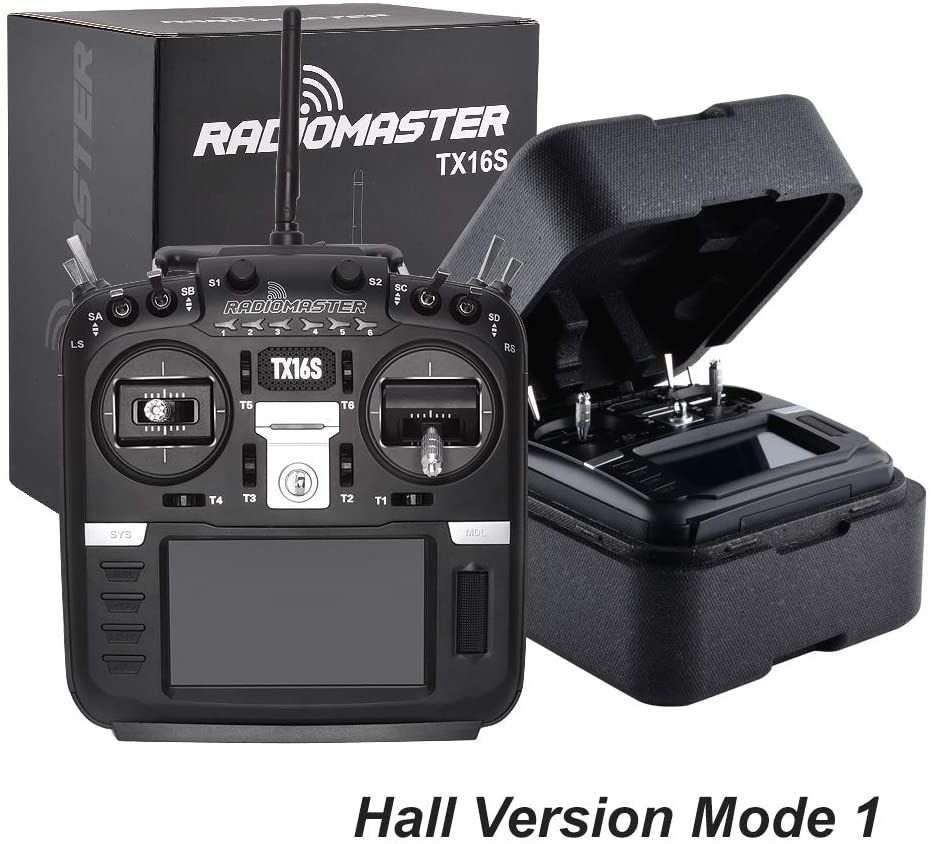 RadioMaster TX16S Hall TBS Sensor Gimbals 2.4G 16CH Multi-Protocol RF System OpenTX Radio Transmitter for RC Drone (Hall Version Mode 1)