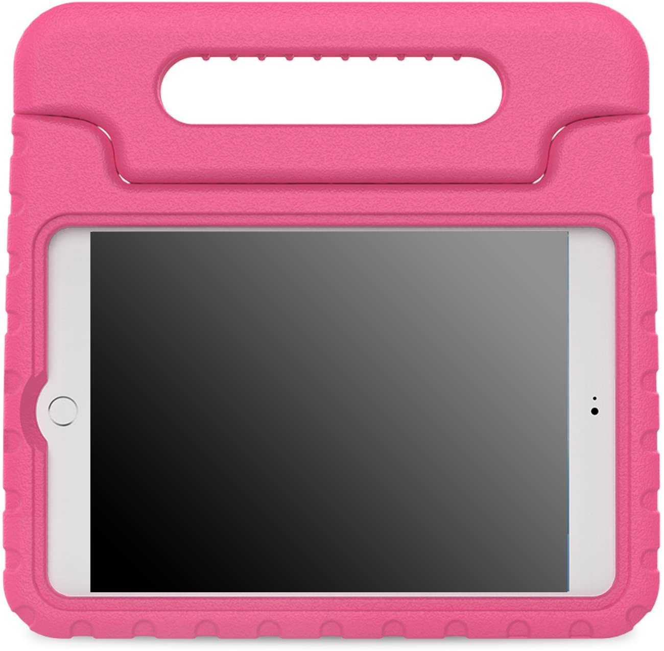MoKo Case Fit iPad Mini 4 - Kids Shock Proof Convertible Handle Light Weight Super Protective Stand Cover Case Fit Apple iPad Mini 4 2015 Tablet, Magenta