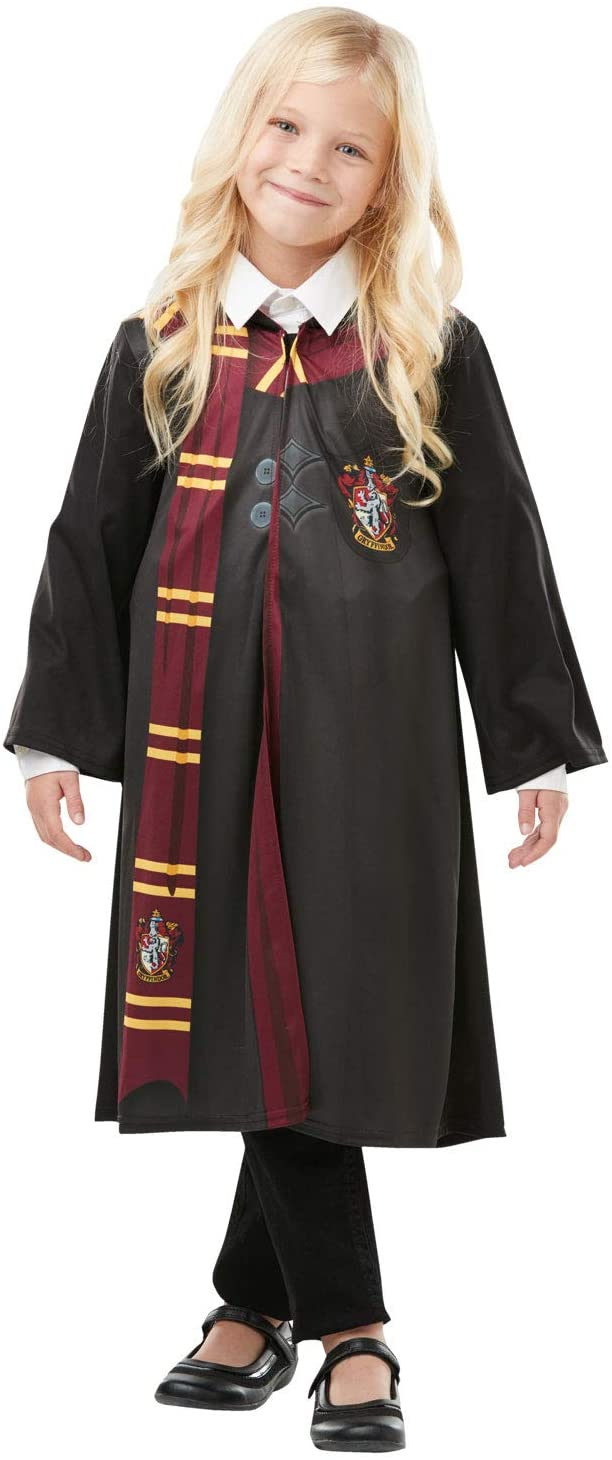 Rubies Official Harry Potter Gryffindor Printed Robe Costume, Childs Size Medium Age 5-6 Years