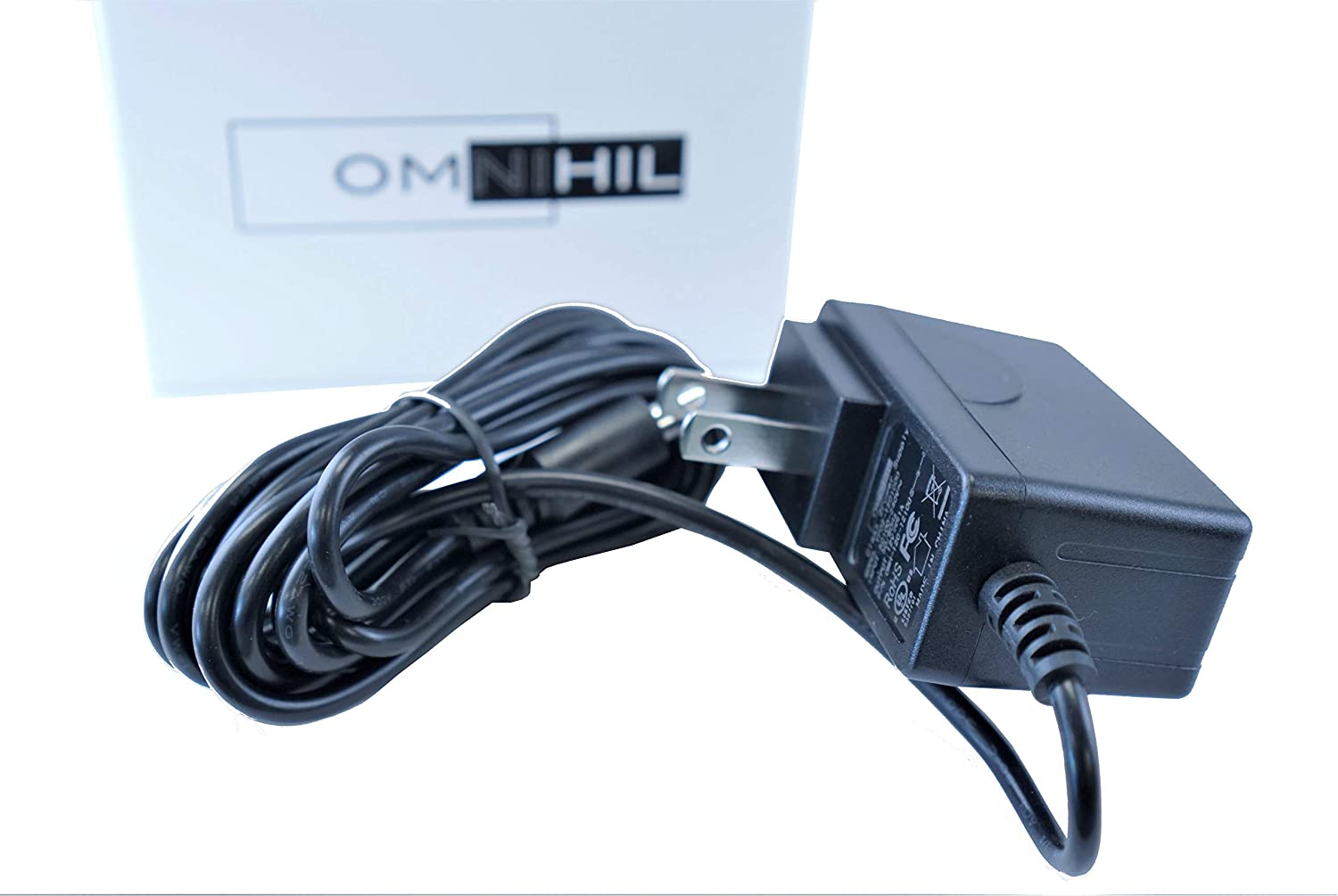 [UL Listed] OMNIHIL 8 Feet Long AC/DC Adapter Compatible with Sharper Image UD-1202 12VDC CT414 Power Supply Adaptor