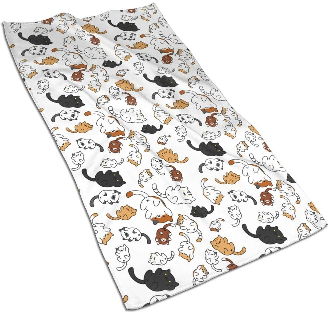 Tumblr Cat Kitchen Towels ¨C 17.5X27.5in Microfiber Terry Dish Towels for Drying Dishes and Blotting Spills ¨CDish Towels for Your Kitchen Decor