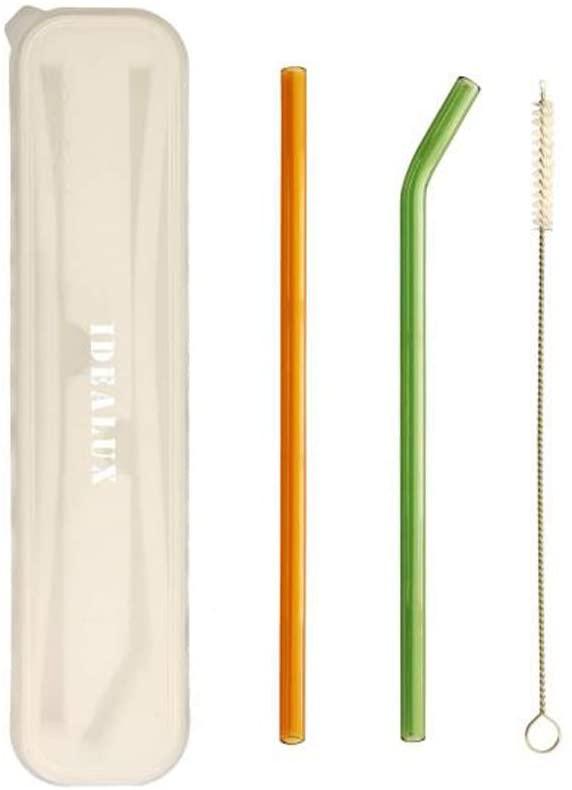 IDEALUX Glass Straws, 8