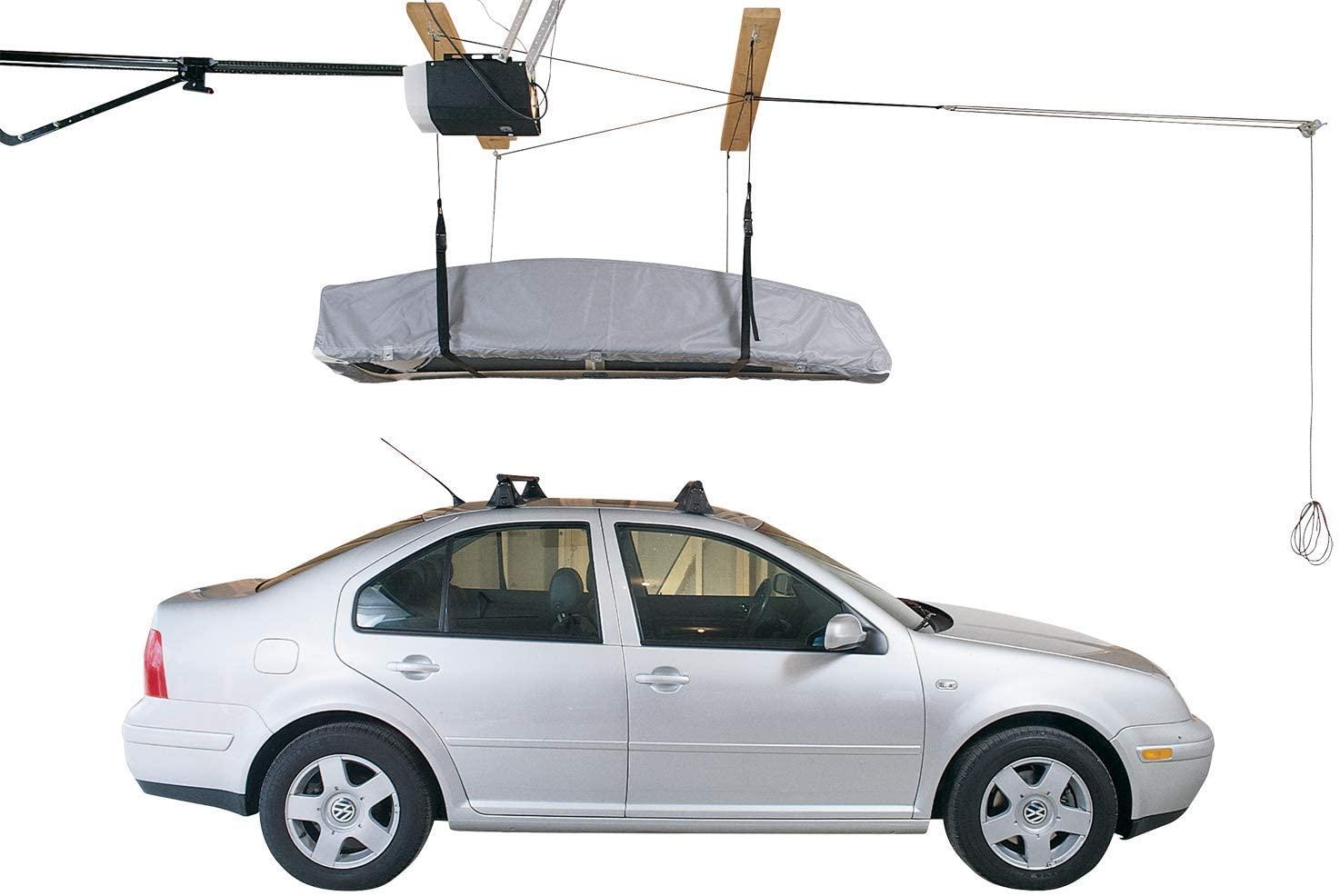 HARKEN Cargo Box Hoist   Overhead Garage Storage, Lifts Load Evenly, Safe Anti-Drop System, 4:1 Mechanical Advantage, Smart Garage Organization