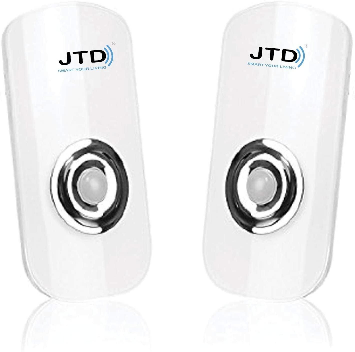 JTD Smart Energy-efficient LED Night Light Motion Auto Sensing LED Lights Motion Sensor Flashlight Rechargeable Emergency Light (2 Pack)
