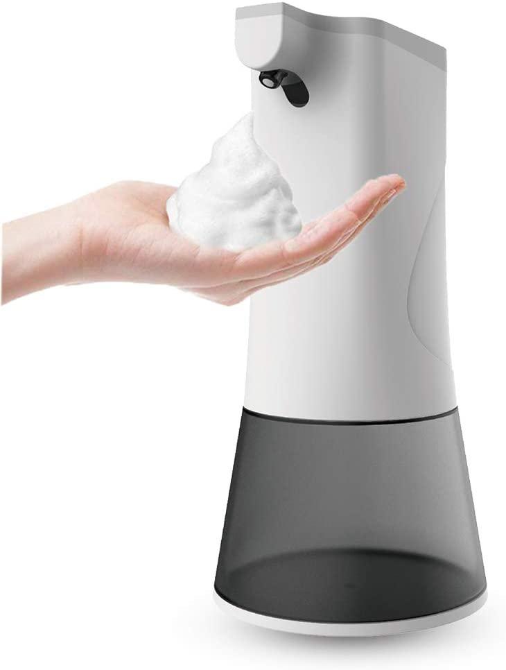 SIENON Automatic Soap Dispenser, Touchless Foaming Soap Dispenser, 11.8oz/350ml Infrared Motion Sensor Premium Rechargeable Electric Hands-Free Countertop Soap Dispenser for Bathroom Kitchen