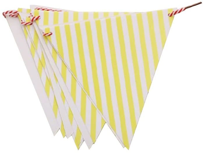 PANDA SUPERSTORE [Yellow] 3Pcs Party Banners Party Decorations / Children'sRoom Decorations