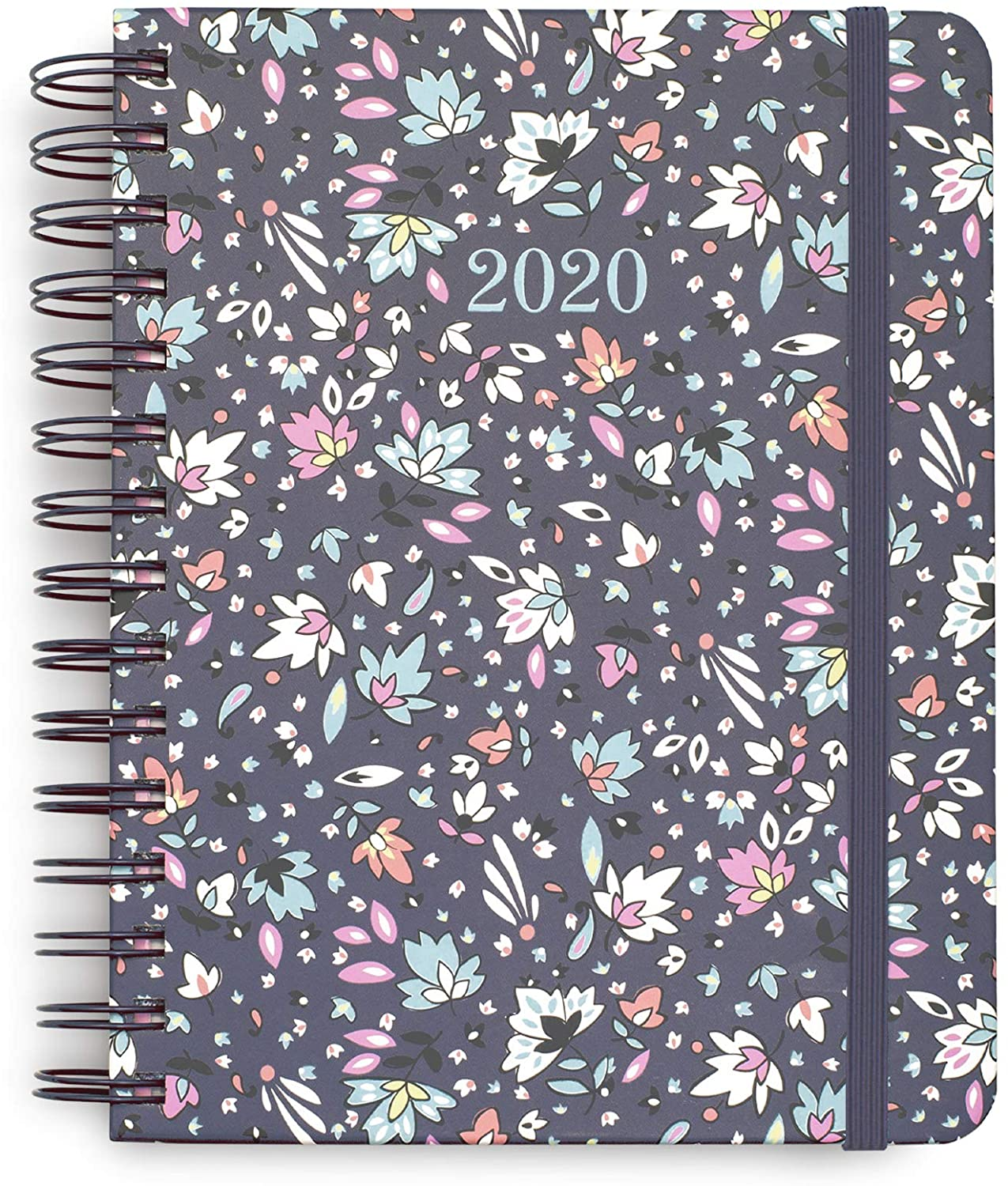 Vera Bradley 2020-2021 Planner Daily Weekly & Monthly, 17 Month Medium Hardcover Personal Planner Dated Aug 2020-Dec 2021 with Stickers, Holidays/Notes Pages, Pocket, Monthly Tabs, Bonbon Ditsy