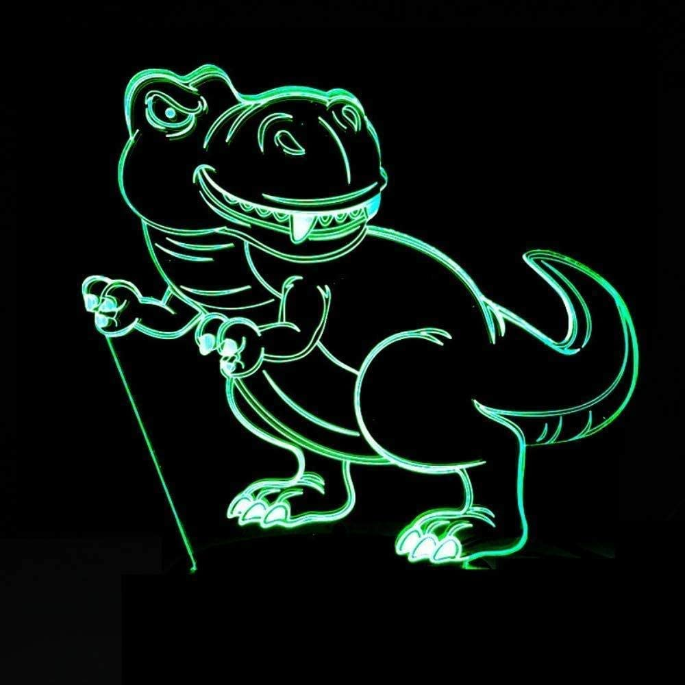 Dinosaur Shape Colorful 3D Led Night Light USB Powered Remote Control Touch Home Lamp