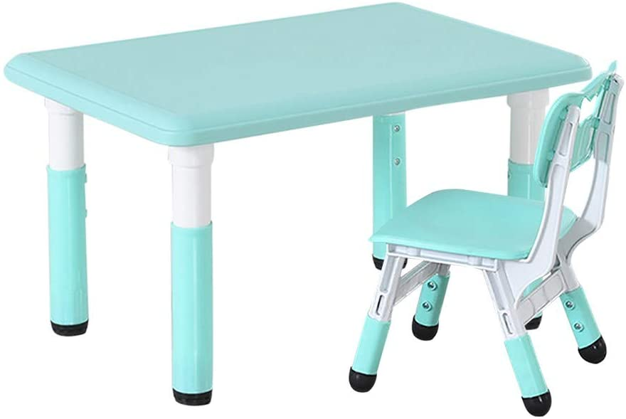 Children Desk and Chair Set Height Adjustable,Kids Student Table Childs Children's Combined Study Work Tables Raised Lowered Writing Liftable Desks