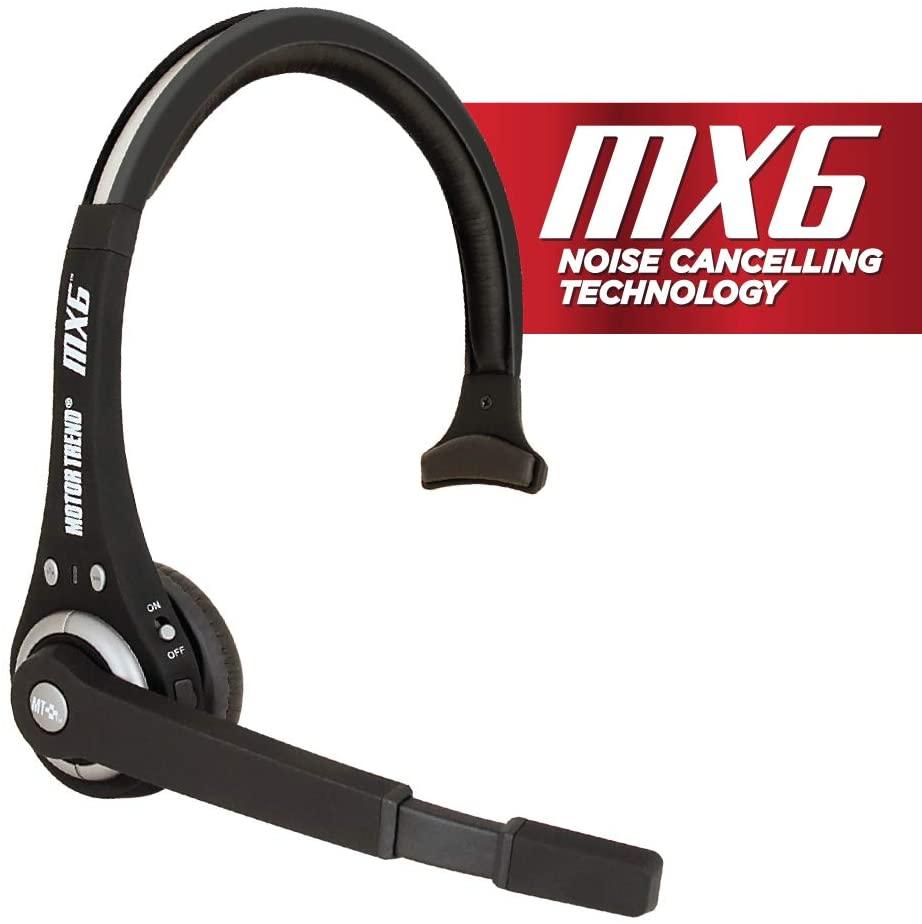 Premier Motor Trend Headset Bluetooth Wireless Head Set, MT7000_AMZN, Black (MT-7000-AMZN)