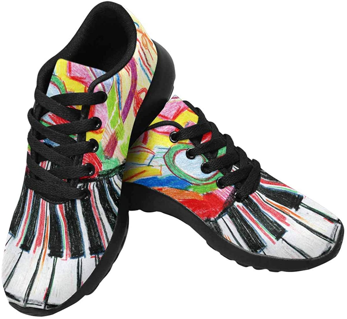 INTERESTPRINT Women's Running Shoes - Casual Breathable Athletic Tennis Sneakers US6-US15