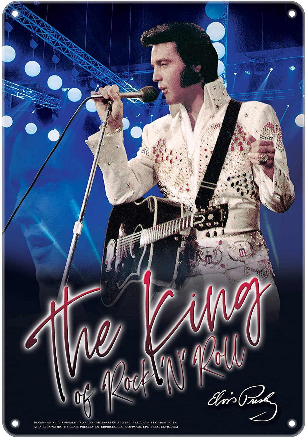 Midsouth Products Elvis Tin Sign - 8
