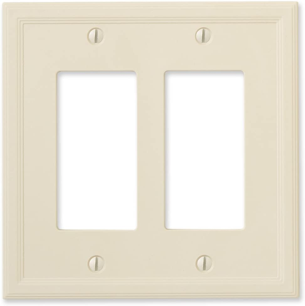 Insulated Double Rocker - Ivory Light Switch Cover Decorative Outlet Cover Wall Plate