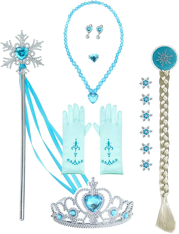 Princess Dress up Tiaras Accessories Jewelry Toy Playset (15pcs)