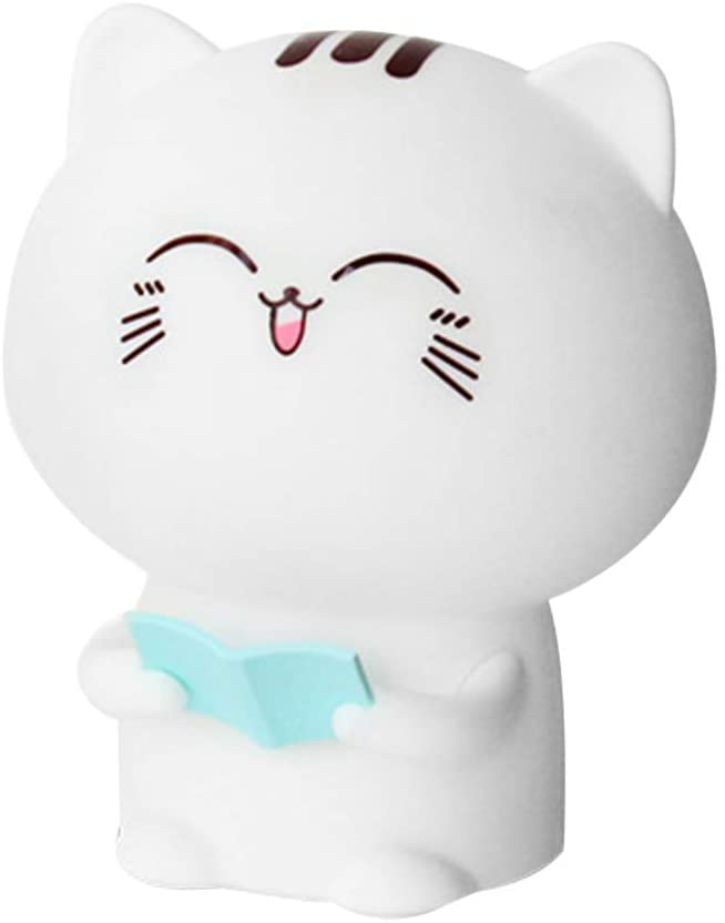 Uonlytech LED USB Night Lamp Kids Table Lamp Cat Shaped Night Light Recording Lamp with Remote Control