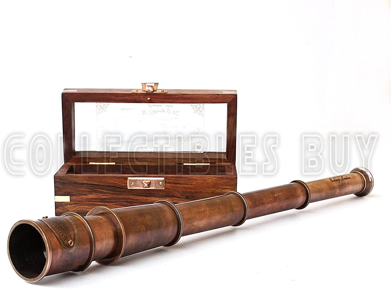 Vintage 1915 Retro Sailor Marine Telescope Copper Antique Royal Navy Gift Item