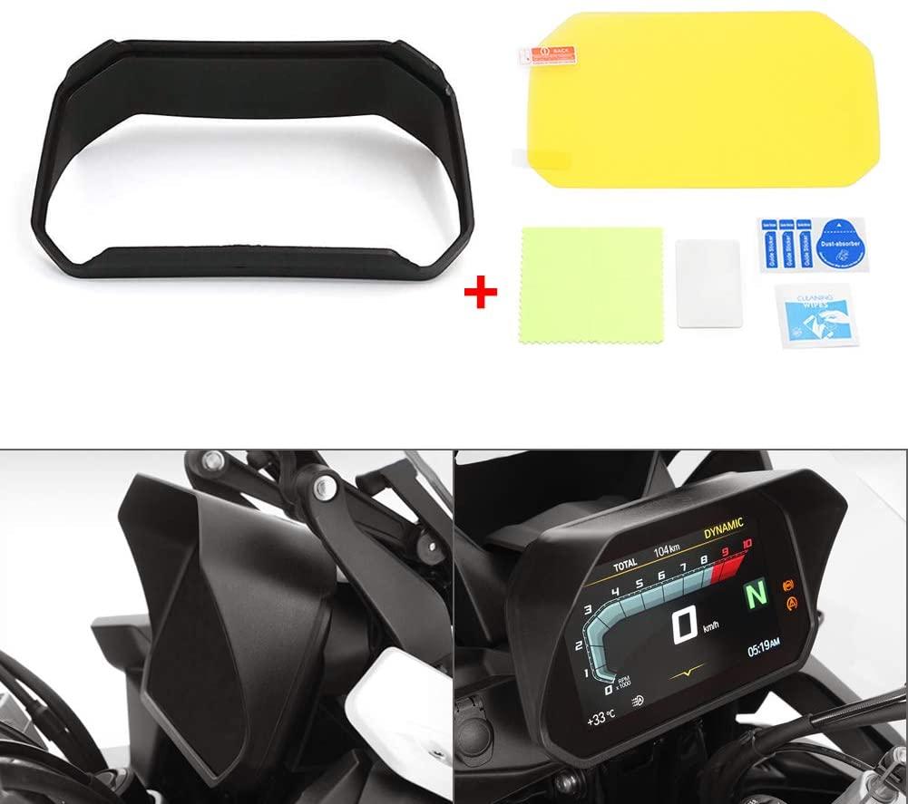 Motoparty Motorcycle Speedometer Visor Display For BMW F750GS F850GS/ADV R1200GS LC/ADV R1250GS/ADV/R F750 F850 R1200 R1250 GS Sun Visor Speedometer Glare shield Cover