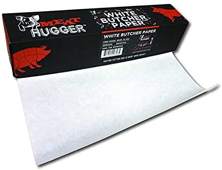 White Butcher Paper Dispenser Box (17.25 Inch by 175 Feet Roll) - Food Grade Meat Packing and Wrapping Paper, Unbleached and Uncoated