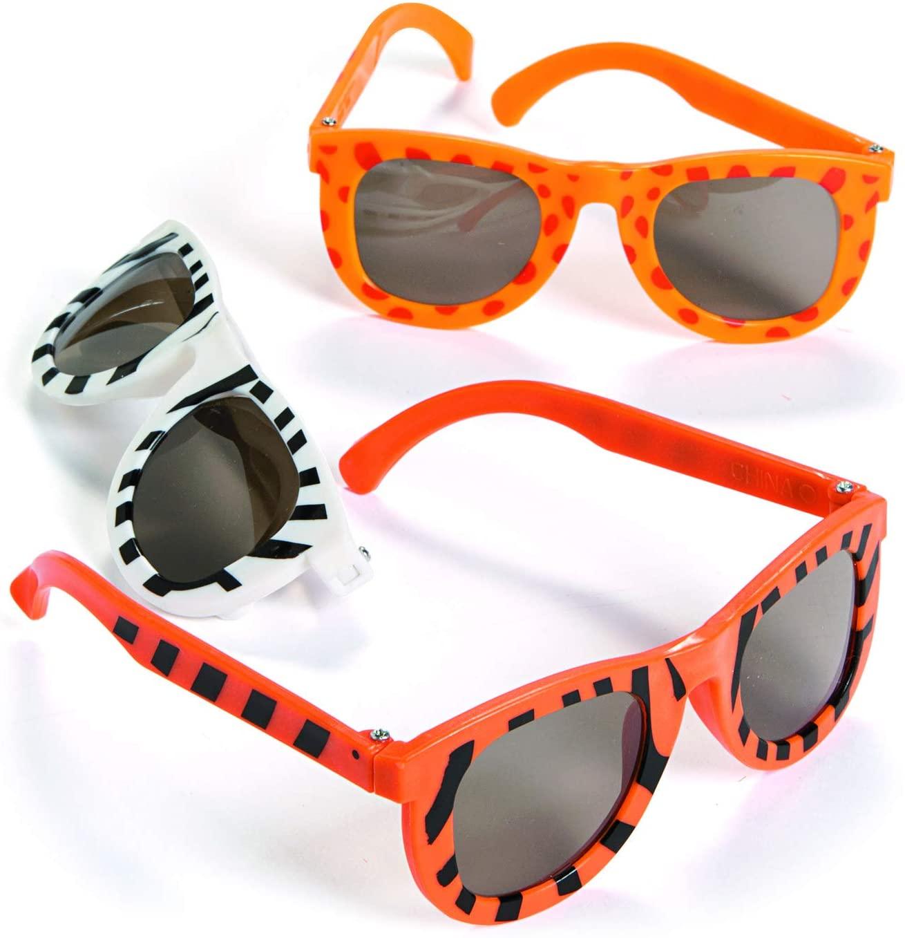 Fun Express Animal Print Sunglasses (1 Dozen) Party Favors, Summer & Beach Accessories