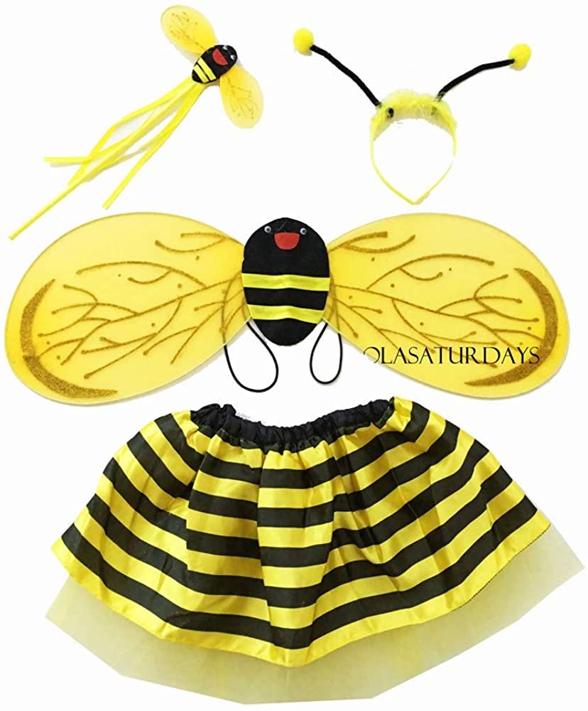 LOLASATURDAYS Fairy Wing and Dress Set (Bee)