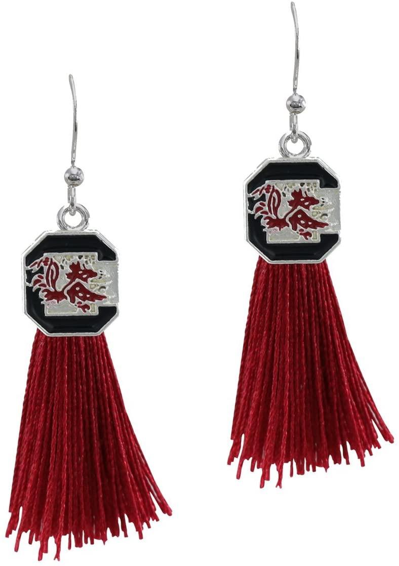 SANDOL South Carolina Gamecocks Tassel Earrings