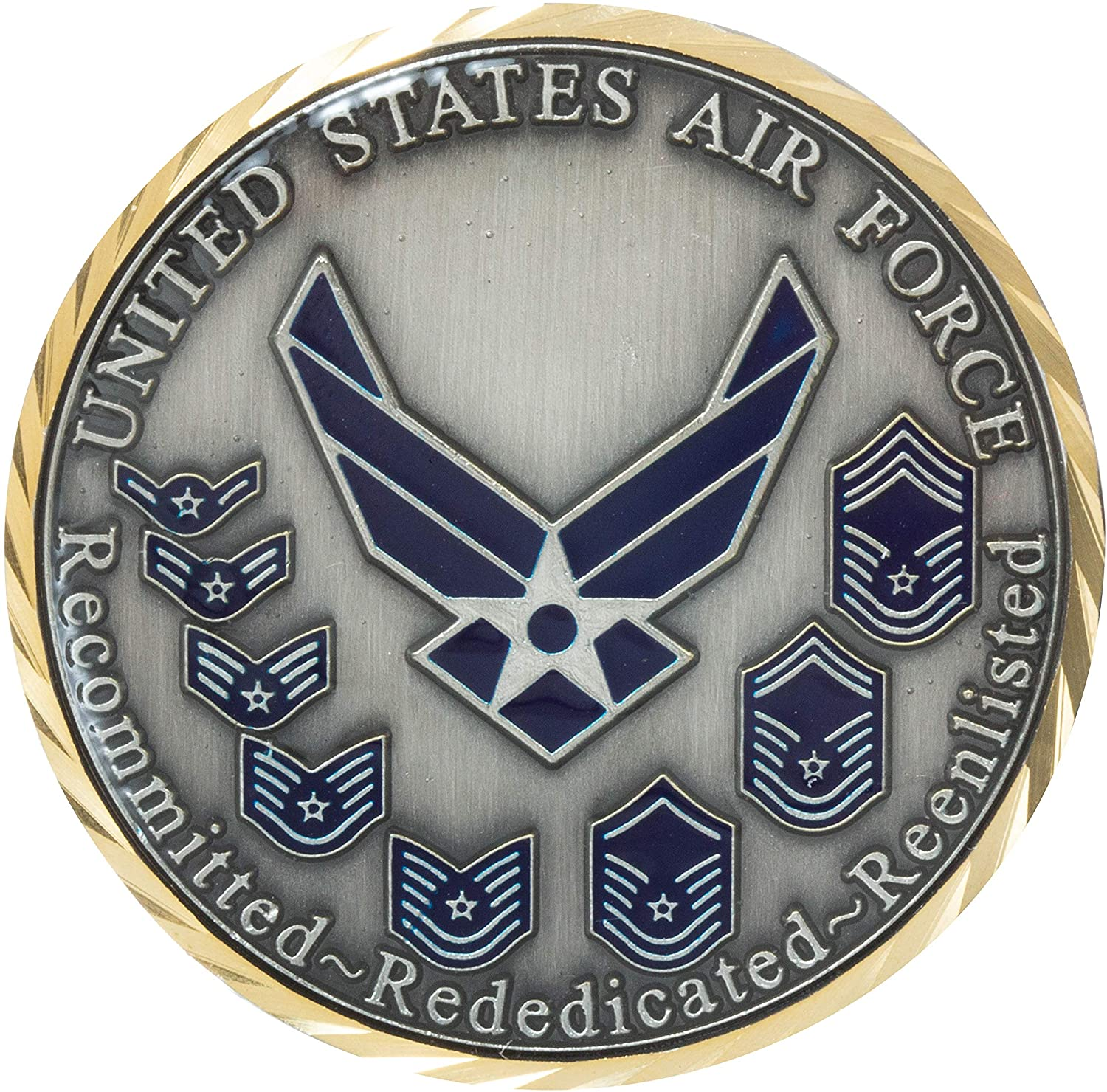 United States Air Force Oath of Enlistment Challenge Coin