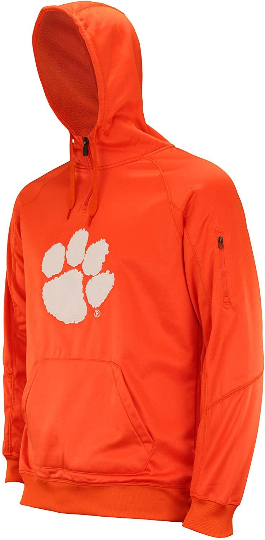 Outerstuff NCAA Mens Fan Basic 1/4 Zip Hooded Sweater