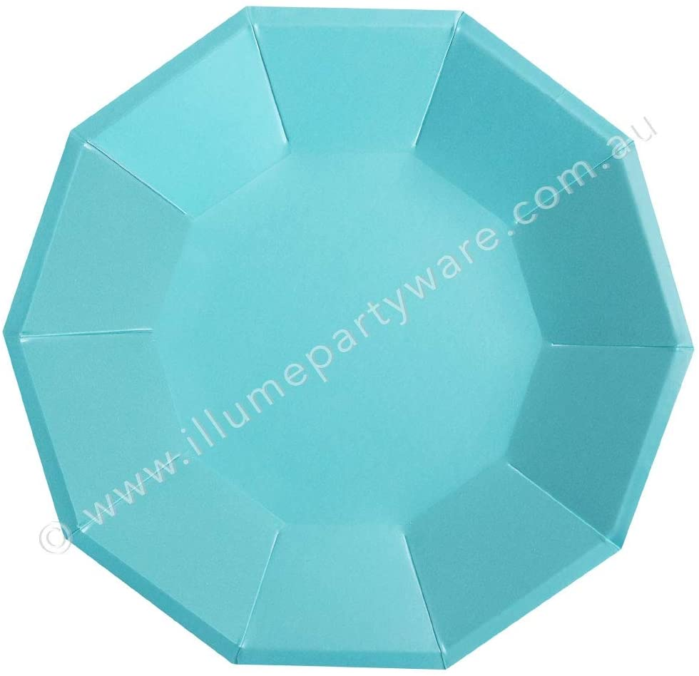 Illume Partyware Blue Large Plate, Disposable, 10 Count, 9 Inch for Birthday Party, Kids Party, Baby Shower