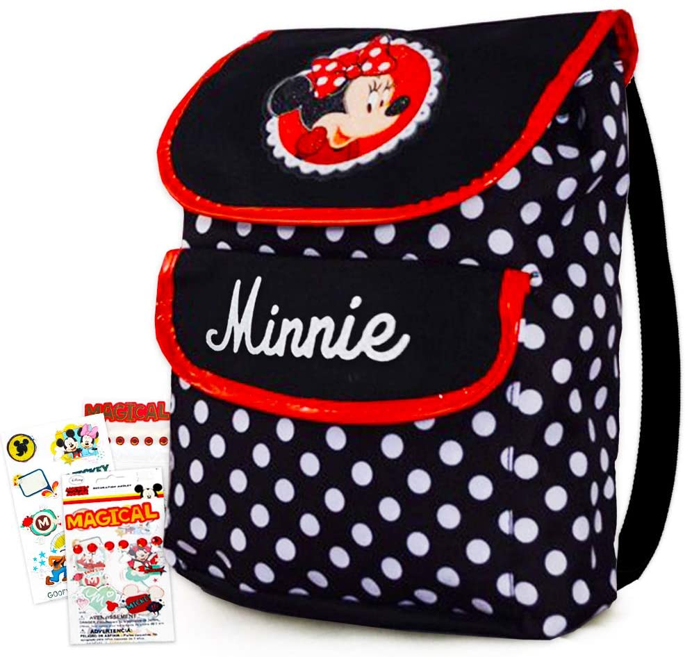 Disney Toddler Preschool Backpack (Minnie Mouse) with Mickey Album Stickers