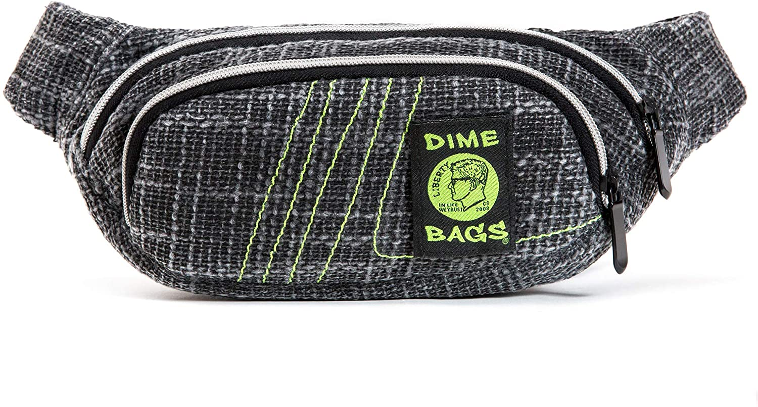Fanny Pack - Hemp Hip Pack w/Spacious Storage and Adjustable Strap (Black)