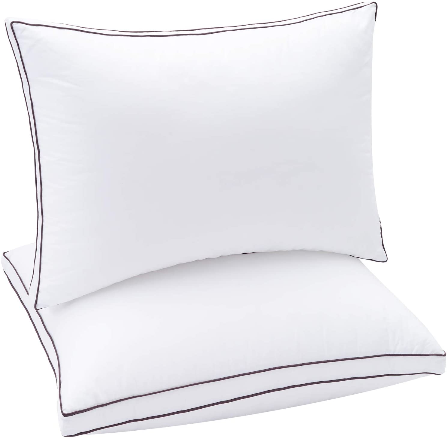 Soamay Bed Pillows for Sleeping 2 Pack, Luxury Down Alternative Pillows with Premium Hypoallergenic Plush Fiber, Good for Side and Back Sleeper-20 x 30 Inches (Queen)