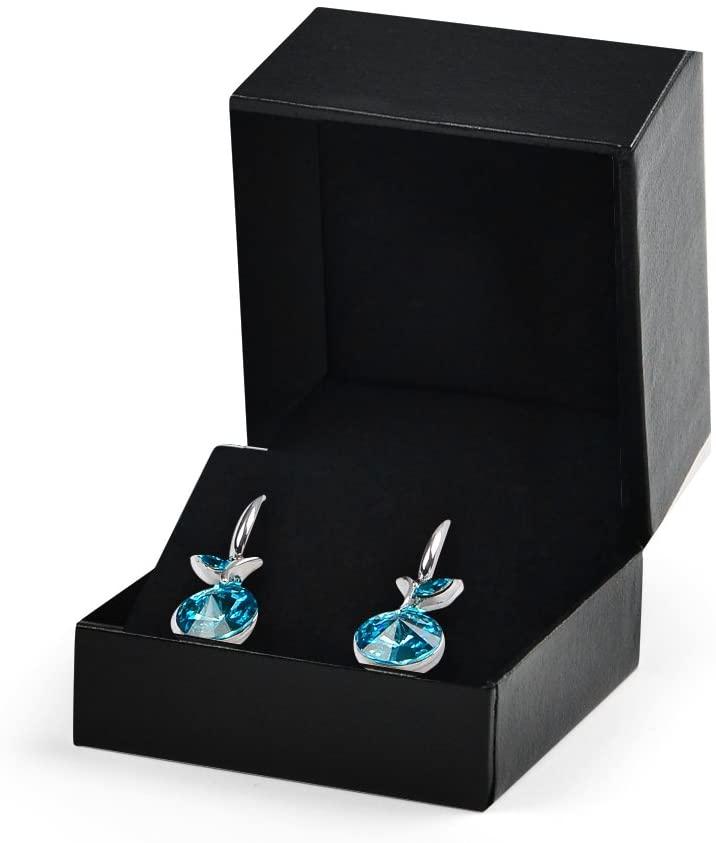 Oirlv Black Earrings Box Wedding/Propose Jewelry Gift Earring Studs Box Velvet Insert