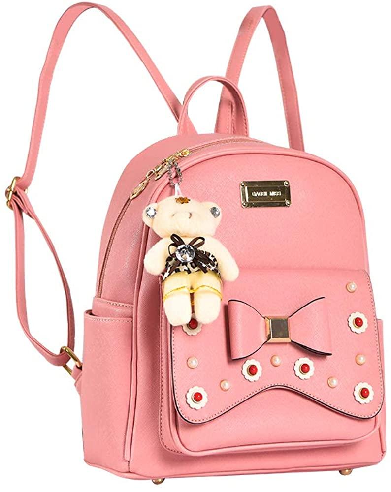 Girls Cute Leather Mini Backpack Fashion Casual Daypacks Purse for Women…