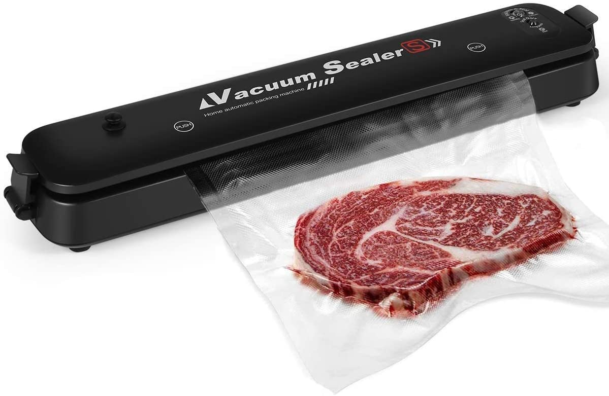 2020 Upgraded Vacuum Sealer Automatic Food Sealer Machine with 15 Sealing Bags Food Vacuum Air Sealing System for Food Preservation Storage Saver