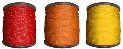 SGT KNOTS Hollow Braided Polyethylene Rope - High Grade for Outdoors, Concerts, Crafting (1/4