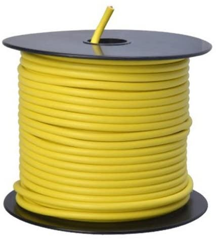 Southwire 55671723 Primary Wire, 12-Gauge Bulk Spool, 100-Feet, Yellow