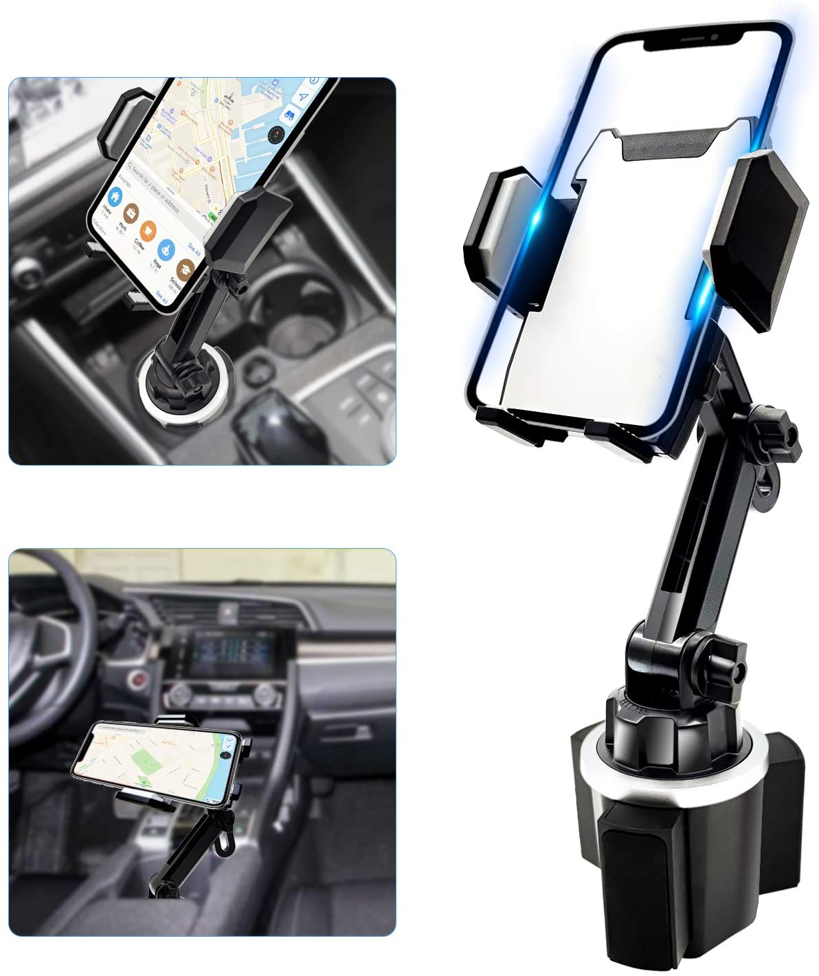 Cup Phone Holder for Car, Universal Adjustable Gooseneck Car Cup Holder Phone Mount Car Cradle for Cell Phone iPhone 11 Pro/X/Xs/XR/Xs Max/8/8Plus/7/6s/SE,Galaxy S10/S9/S8/S7/Note 8 9