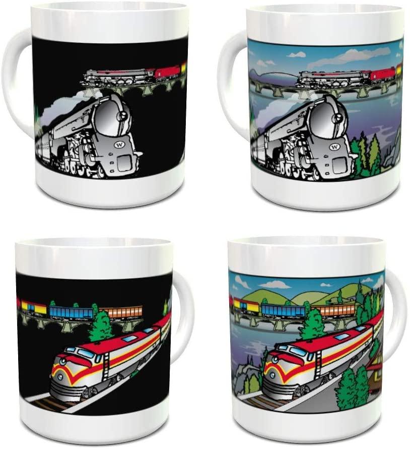 Trains Magic Mug - Color Changing Mug - Coffee Mug - Train Gift